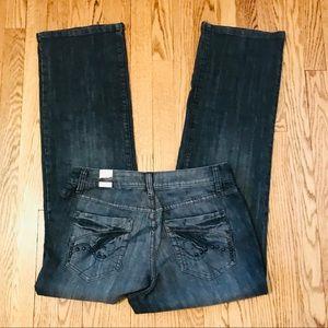 NWT Venezia Bootcut Black Stretch Jeans 14 J12